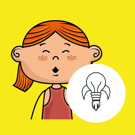 girl student school vector illustration graphic