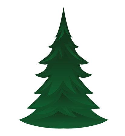 Pijnboom geïsoleerd pictogram vector illustratie ontwerp