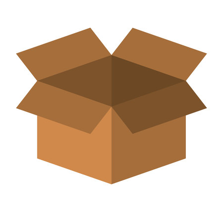 packing: box carton packing isolated icon vector illustration design