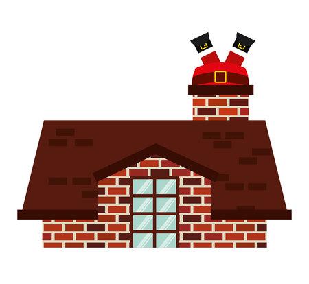 christmas house: christmas house isolated icon vector illustration design