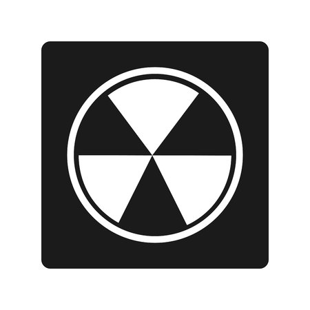caution chemistry: nuclear energy isolated icon vector illustration design Illustration
