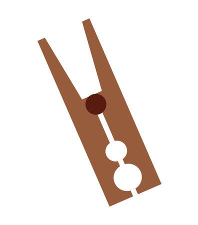 clothespeg: clothes peg isolated icon vector illustration design Illustration