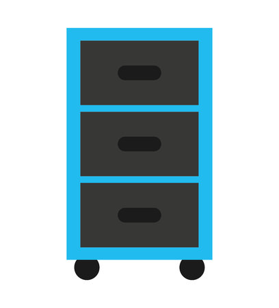 drawers: plastic drawers isolated icon vector illustration design
