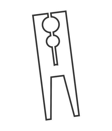 peg: clothes peg isolated icon vector illustration design Illustration