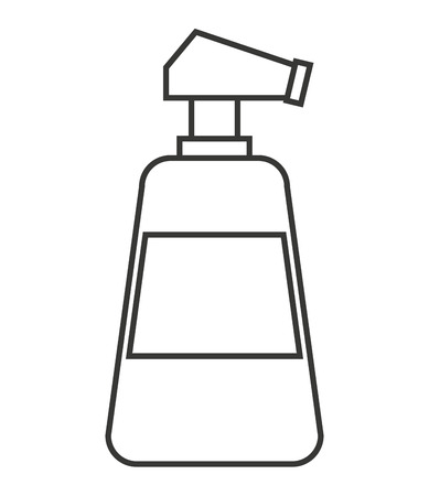water spray: water spray bottle isolated icon vector illustration design
