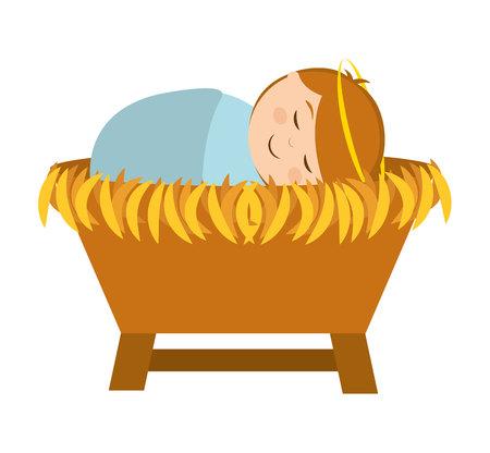 nativety: manger character cartoon isolated icon vector illustration design vector illustration design