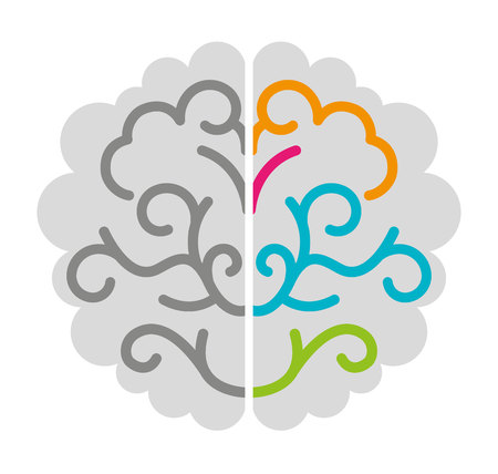 brain storming isolated icon vector illustration design vector illustration design Illustration