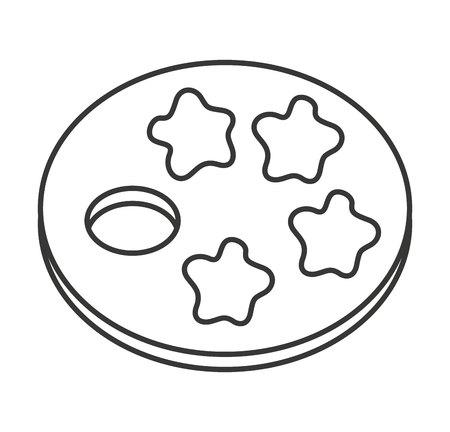 pallette: peinture pallette icône isolé illustration vectorielle conception Illustration