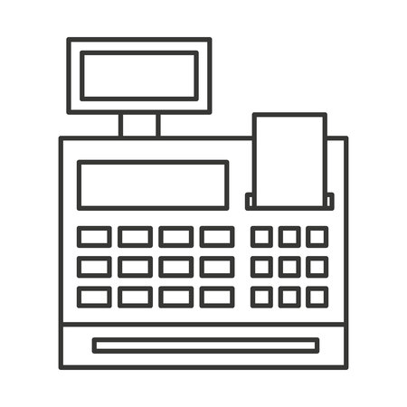 retail display: register machine isolated icon vector illustration design