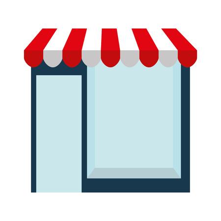gebouw winkel markt geïsoleerd vector illustratie ontwerp