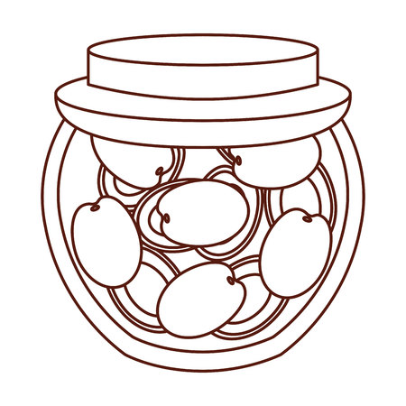 mason: mason jar with fruits isolated icon vector illustration design