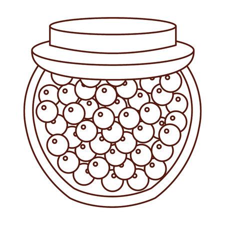 mason jar with fruits isolated icon vector illustration design