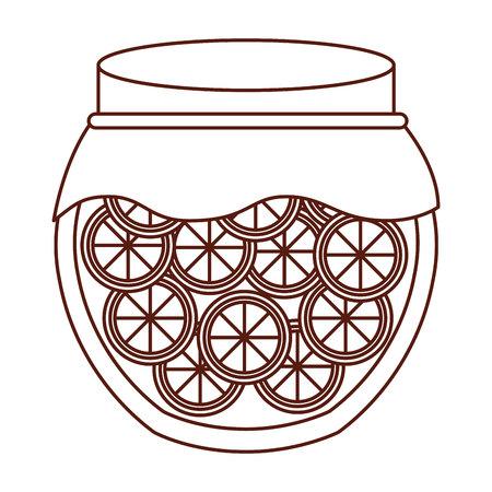 marmalade: mason jar with fruits isolated icon vector illustration design