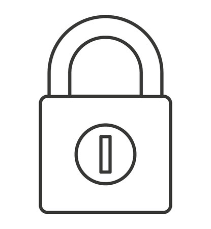 safeguard: safe secure padlock security isolated icon vector illustration design