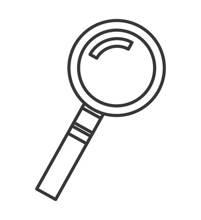 scrutiny: search magnifying glass isolated icon vector illustration design Illustration