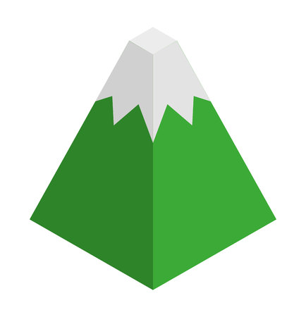 flat earth: mountain isometric isolated icon vector illustration design Illustration