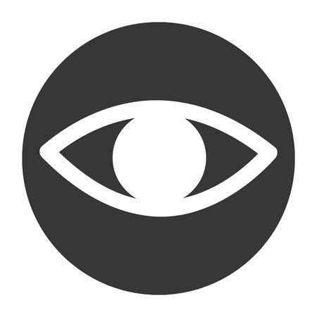 ojo humano: ojo humano aislado icono de ilustración vectorial de diseño