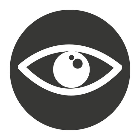 目人間の分離アイコン ベクトル イラスト デザイン