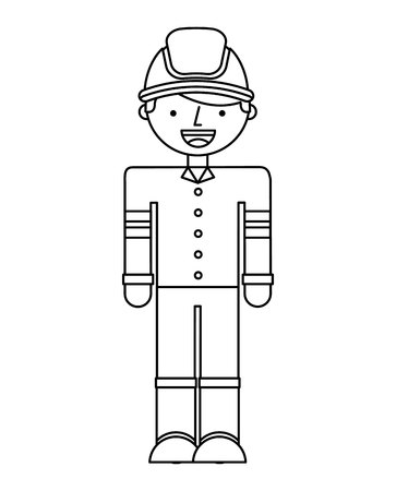 fire fighter: fire fighter character isolated icon vector illustration design Illustration