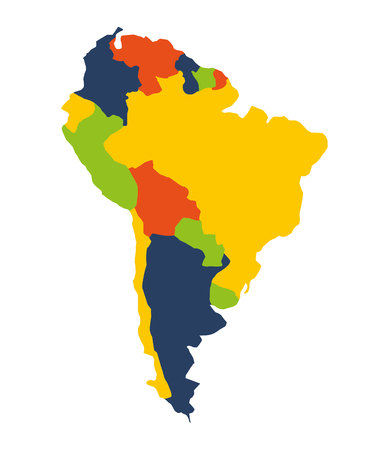 cartography: south american map isolated icon vector illustration design Illustration