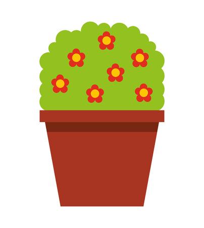 plant pot: garden pot with plant vector illustration design Illustration