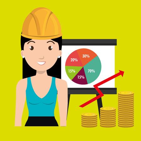 woman economy money Illustration