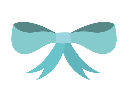 ribbon bown isolated icon vector illustration design Illustration