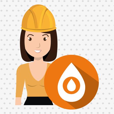 gallon: woman gallon gasoline icon vector illustration graphic Illustration