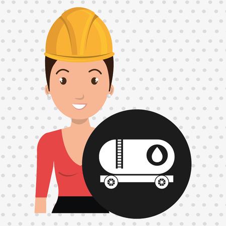 woman gallon gasoline icon vector illustration graphic Vektoros illusztráció