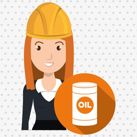 redhair: woman gallon gasoline icon vector illustration graphic Illustration