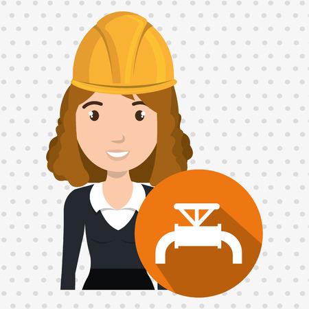 woman gallon gasoline icon vector illustration graphic Illustration