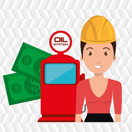 woman dispenser gasoline