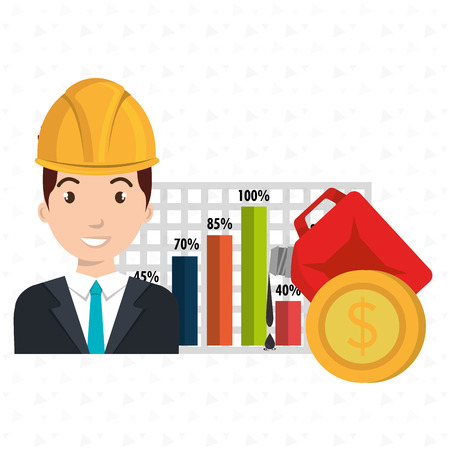 blazer: man economy money vector illustration graphic Illustration