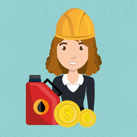 woman gasoline station vector illustration graphic eps 10 Illustration