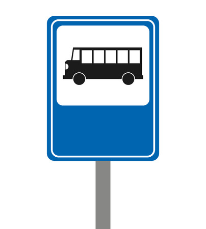 bus stop signal isolated icon vector illustration design Illustration