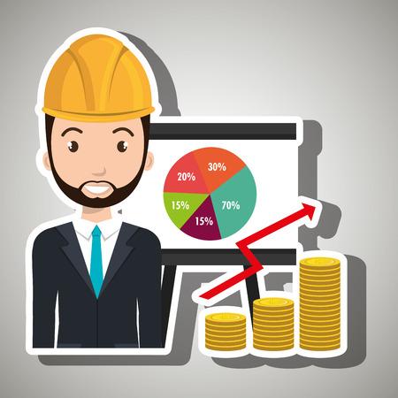 blazer: man economy money Illustration