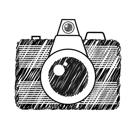 photography equipment: camera photographic isolated icon vector illustration design