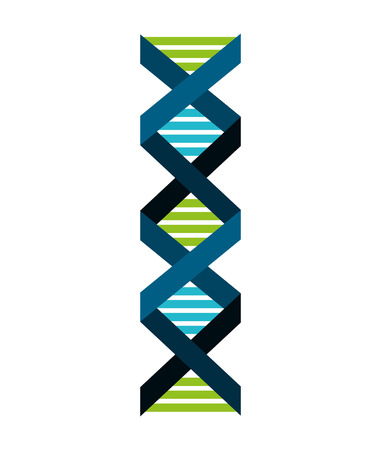 particle: dna particle isolated icon vector illustration design