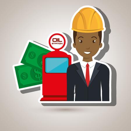 dispenser: man dispenser gasoline vector illustration graphic