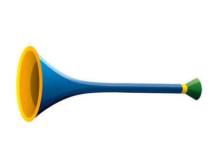 trompet carnaval geïsoleerd pictogram vector illustratie ontwerp