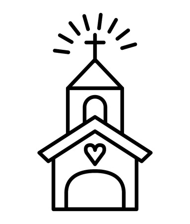 steeple: church building isolated icon vector illustration design