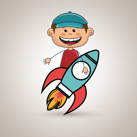 boy idea happy vector illustration graphic