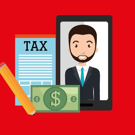 economic interest: man smartphone tax dollar