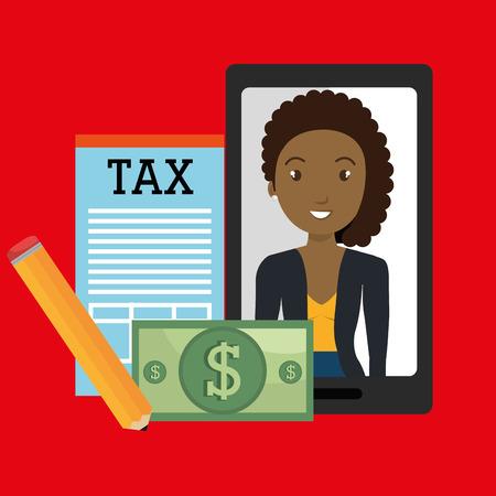 woman smartphone: woman smartphone tax dollar