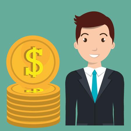 man currency money dollar vector illustration graphic Illustration