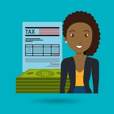 rich girl: woman dollar money icon vector illustration graphic Illustration