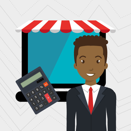 markdown: man store mark online vector illustration graphic Illustration
