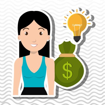 character bag money idea