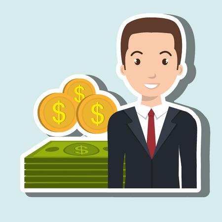 blazer: man dollar money icon vector illustration graphic
