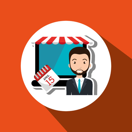 blazer: man store mark online vector illustration graphic Illustration